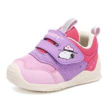 史努比SNOOPY童鞋2018秋季新款儿童机能鞋男女童婴儿软底防滑学步鞋 S8131801 包邮