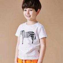 迪斯兔/disitu夏季儿童装男童短袖T恤纯棉圆领印花中大童夏装男孩半袖体恤F1101