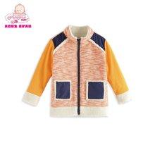 丑丑婴幼冬季新款男童时尚休闲百搭保暖绒里外套 CGE612X
