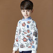 迪斯兔/disitu迪斯兔童装男童卫衣圆领中大童上衣儿童秋冬装加绒新款潮W2070