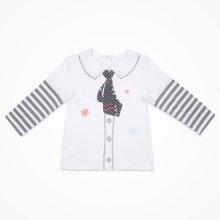 丑丑婴幼  男童长袖T恤纯棉男宝宝时尚拼接T恤上衣 CJE203X