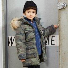 康衣儿加厚男童羽绒服中大儿童羽绒服中长款加厚男孩子冬季外套