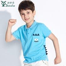 迪斯兔/disitu童装男童POLO衫短袖体恤儿童纯棉夏装新款中大童T恤翻领上衣F2633