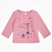 丑丑婴幼 1-4岁女童长袖圆领T恤新款女宝宝时尚百搭T恤 CIE254T