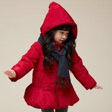 康衣儿女宝宝羽绒服中长款小童款女童冬季外套