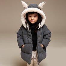 康衣儿宝宝羽绒服女中小童加厚儿童羽绒服女可爱1-3-6岁