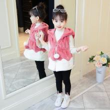 DOWISI2018冬季新款童装女童马甲毛毛衣中大童可爱韩版仿皮草毛毛背心潮D18091809