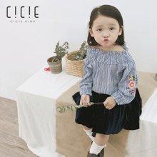 cicie 2018秋季新款韩版打底衫韩版女童装儿童长袖衬衫  C83011