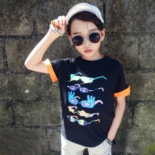 米妮哈鲁童装2018夏装新款男童韩版儿童两件套中大童套装YJ8061樂