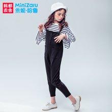米妮哈鲁童装2018春装新款女童韩版套装裤中大童两件套XE7922駺