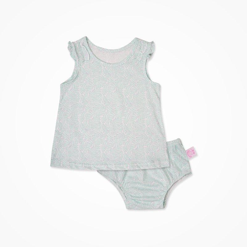 孕妇护理 婴幼服装 套装 丑丑 丑丑婴幼 夏季新款女宝宝可爱t恤套装时
