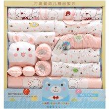 班杰威尔19件套春夏新生儿礼盒纯棉婴儿内衣母婴用品初生满月宝宝套装
