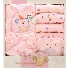 班杰威尔14件套秋冬加厚婴儿礼盒纯棉新生儿内衣带抱被初生宝宝套装