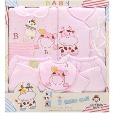 班杰威尔5件套秋冬加厚保暖新生儿礼盒纯棉婴儿内衣初生满月宝宝套装