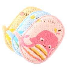 班杰威尔婴儿沐浴棉宝宝洗澡用品婴儿浴擦新生儿洗浴用品(3个装)