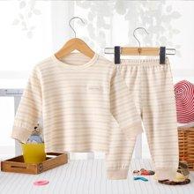 班杰威尔纯棉婴儿衣服新生儿套装彩棉刚出生初生满月宝宝套头内衣