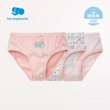 丽婴房 婴幼儿针织内裤女童三角裤女宝宝内裤三条装