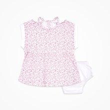 丑丑婴幼女童短袖连衣裙套装夏季新款女宝宝可爱娃娃连衣裙1-2岁CJE356X