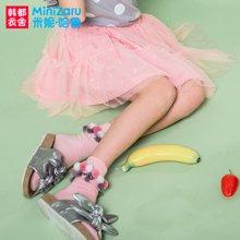 米妮哈鲁童装2018夏装新款女童韩版裙子儿童网纱半身裙ZH7632燚