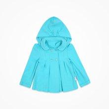 丑丑婴幼 女宝宝前开娃娃衫 秋季新款女童连帽保暖外套 1-4岁CIE658T