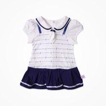 丑丑婴幼 新款夏季海军连衣裙时尚婴童短袖海军裙 1-3岁CJE355X