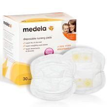 美德乐(Medela)强力吸水持久干爽一次性防溢乳垫30片装触感轻柔