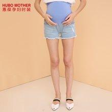 惠葆孕妇牛仔裤夏季新款孕妇短裤时尚孕妇夏装孕妇裤高腰托腹裤子