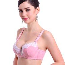 妃孕宝 孕妇文胸软钢圈防下垂哺乳文胸蕾丝边上开扣 竹纤维有钢托产妇胸罩