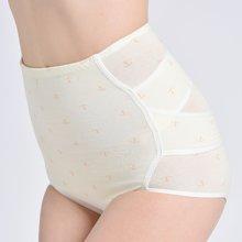 乐孕纯棉高腰提臀产后收腹内裤