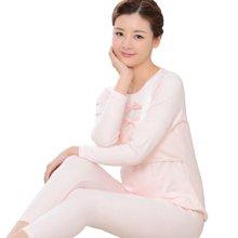 乐孕纯棉加厚蕾丝哺乳衣套装