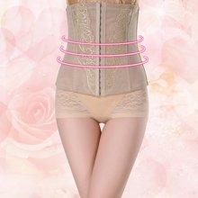 妃孕宝 新款镂空前三排扣防卷边收腹带钢骨塑身美体衣产后塑身腰封