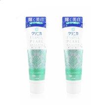 2支装 日本LION/狮王 固齿除垢薄荷珍珠美白牙膏 绿色 柑橘 130g/支