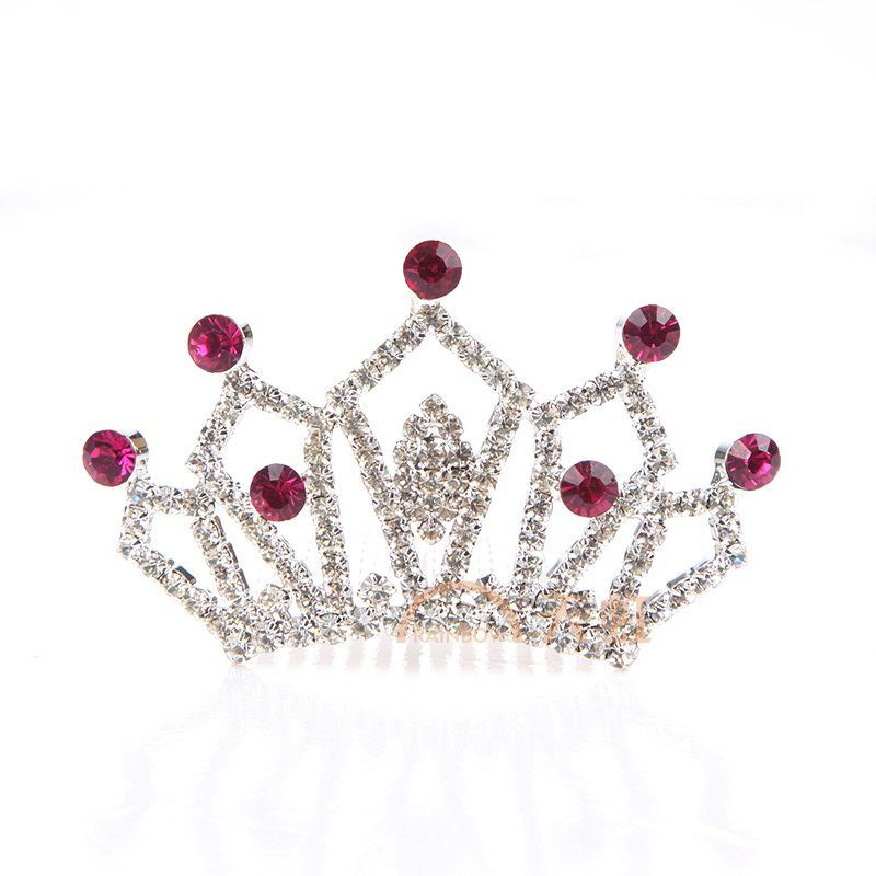 姣兰儿童水晶皇冠可爱发饰发夹-均码-水晶皇冠