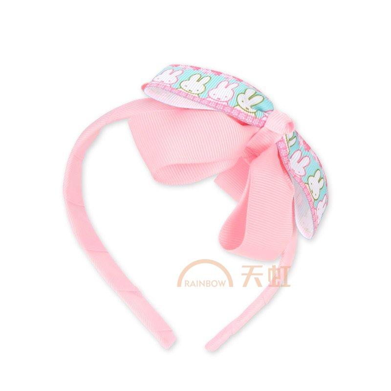 米菲可爱印花大蝴蝶结发箍小蝴蝶结发箍发饰-均码-粉红大蝴蝶结