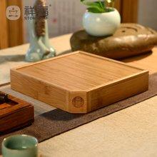 祥福 普洱茶仓 普洱茶棉麻布茶 竹茶盒 茶具配件白茶盒 茶具零配