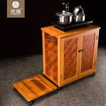 祥福 现代简约茶水柜 时尚雅致茶柜 可拆茶几桌 电磁炉茶道零配