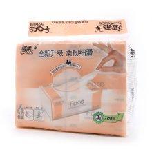 洁柔Face百花香味120抽抽取式纸面巾(6包装)(120抽*3层*6包)