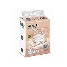 洁柔面子百花香味面巾纸(3包装)NC1(135抽*3层*3包)