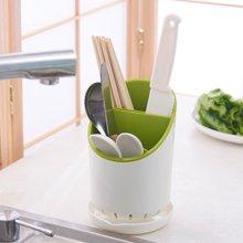 阡佰家 日式筷子笼 筷筒带小刀具架带沥水器筷子架 三层筷子盒餐具收纳盒