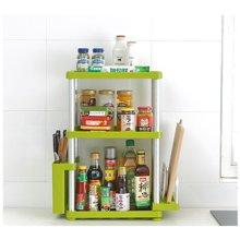 阡佰家 太空铝置物架 厨房置物架长方形三层置物架 调味罐置物架 刀板架