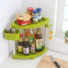 阡佰家 太空铝置物架 厨房置物架 两层三角置物架  调味罐置物架