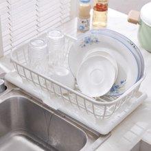 阡佰家 多功能碗架 排水沥水架 双层塑料厨房置物架 餐具架洗菜架沥水筐