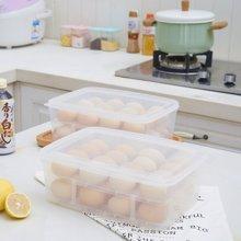 阡佰家 透明鸡蛋盒 防碎鸡蛋容器无毒食物收纳盒塑料分格装蛋器保险蛋托