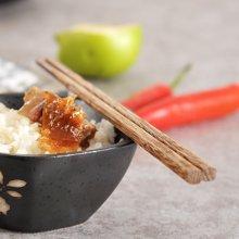 姣兰 鸡翅木木筷子日式无漆无蜡 实木餐具10双家用 家庭套装
