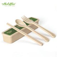 【抗菌 防霉】美国HUSKSWARE 环保儿童便携餐具 筷子套装学生筷叉勺旅行三件套