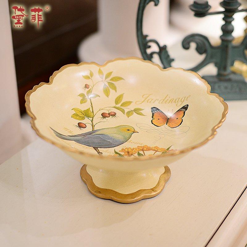 别韵欧式田园果盘创意时尚彩绘简约陶瓷水果盘家居客厅茶几干果盘