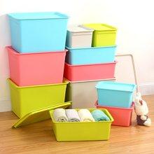 塑料整理收纳箱 衣物储物箱 客厅卧室杂物箱收纳箱