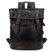 香炫儿XIASUAR 复古商务双肩包男士休闲背包旅行包学生包韩版背包皮质书包