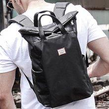 香炫儿XIASUAR 背包男潮牌卷盖双肩包男士时尚潮流户外休闲旅行包学生书包