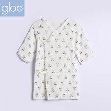 G100寄意百婴儿和尚服双层纱布睡袍宝宝贴身内衣竹纤维纱布空调服